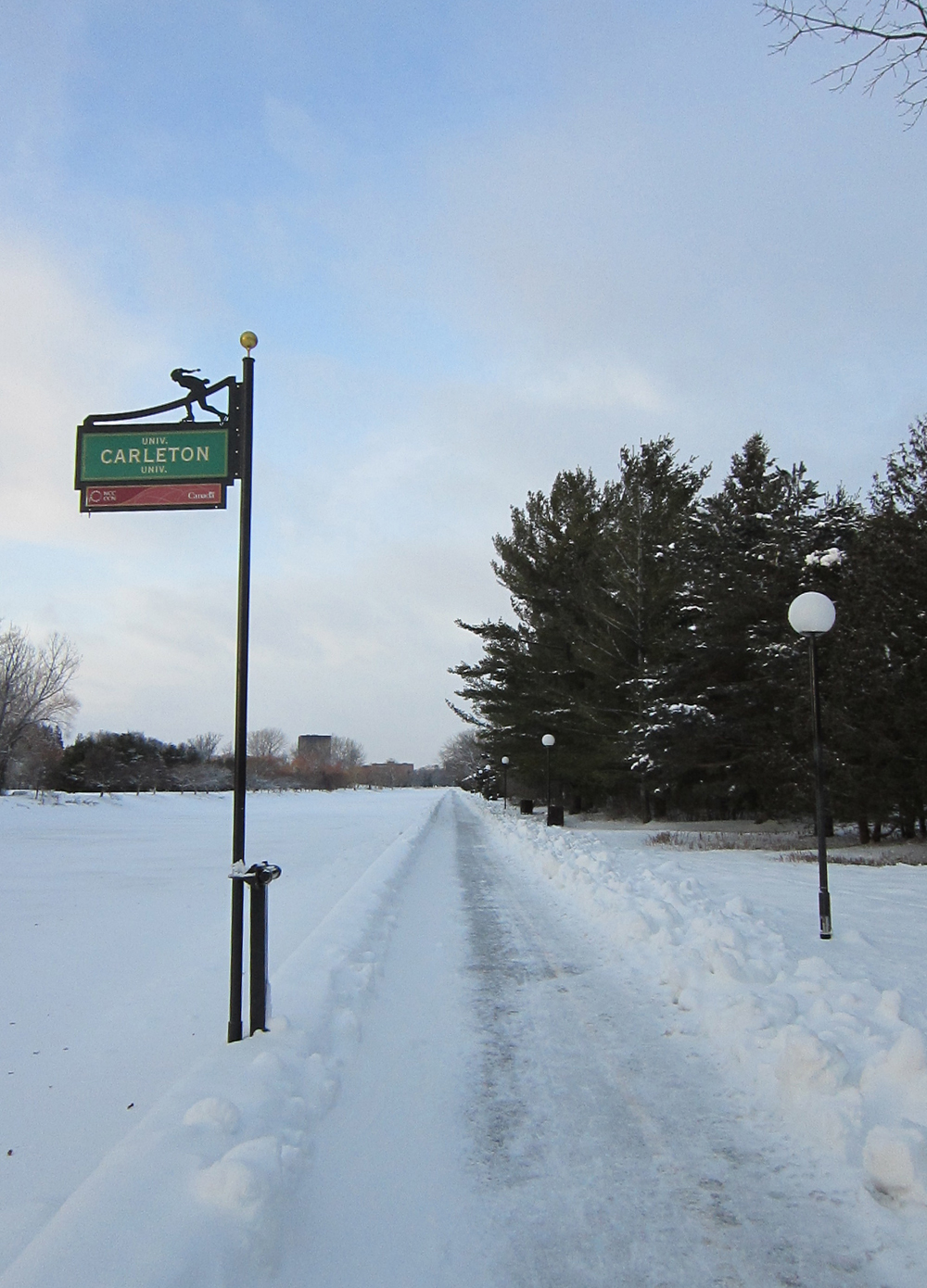Rideau Canal Pathway in the winter