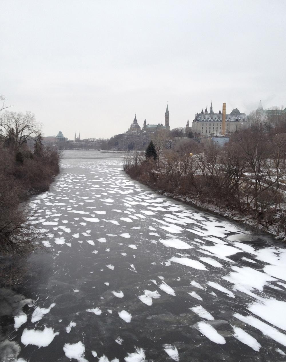 Wind swept river