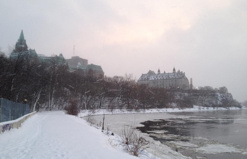 Ottawa River in winter