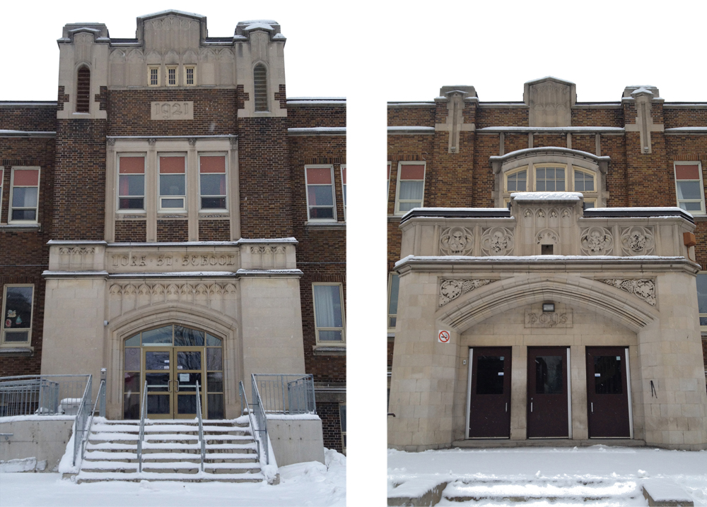 York St Public School - front & side entances