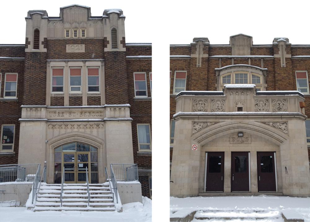 York St Public School - front & side entances