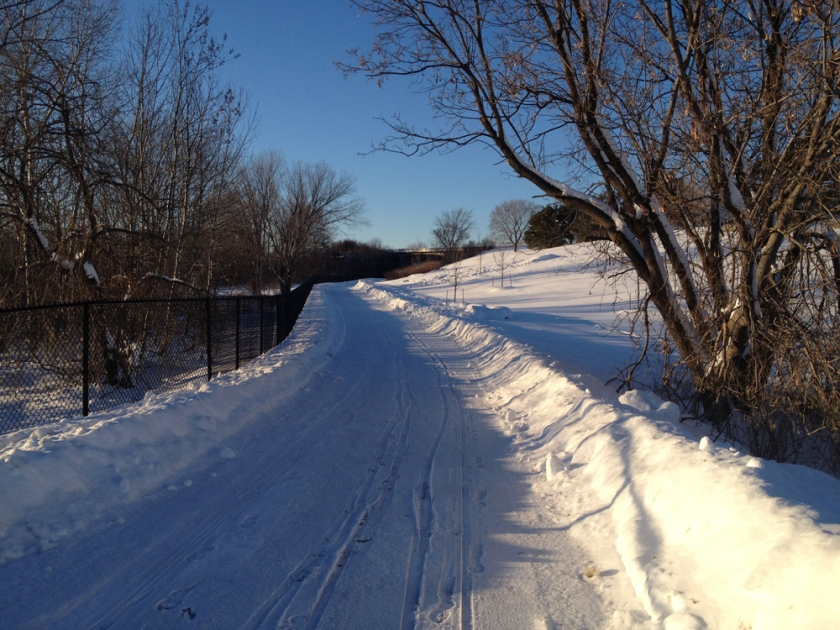 Plowed part of trail