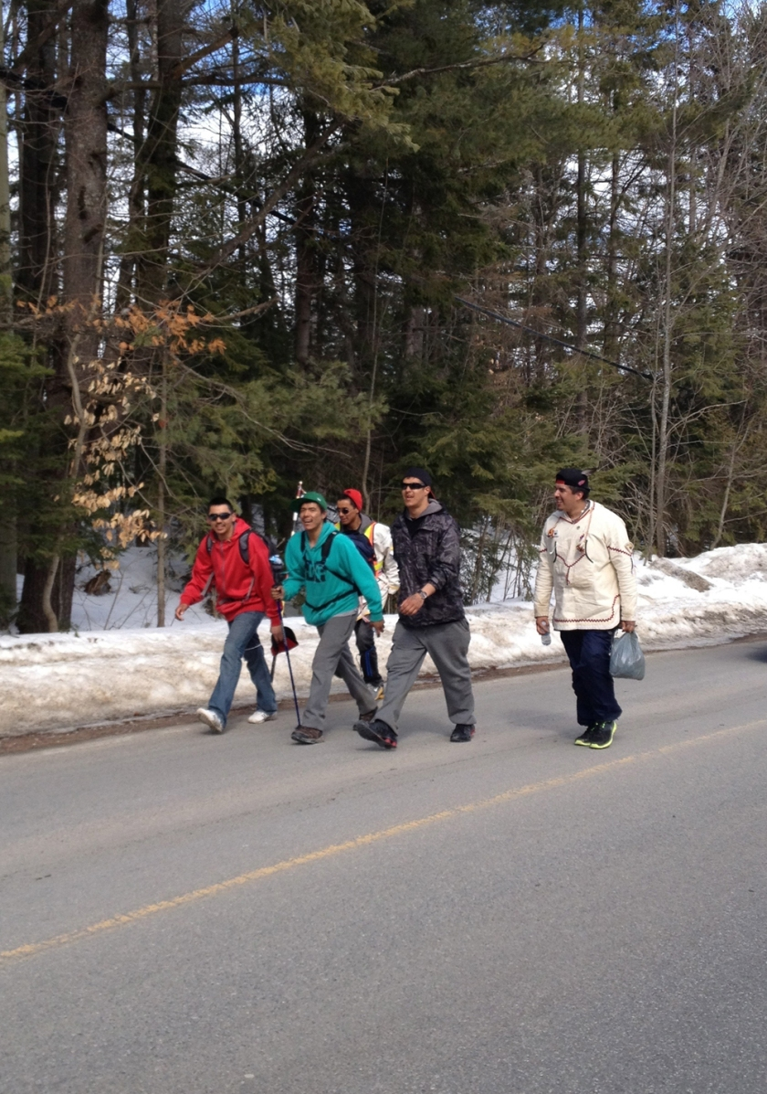 Lead group of Nishiyuu Walkers