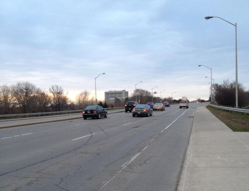 Bike lane along Bronson