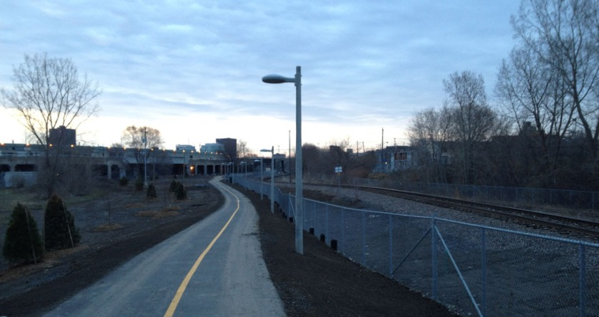 Bike path beside the O-Train  tracks