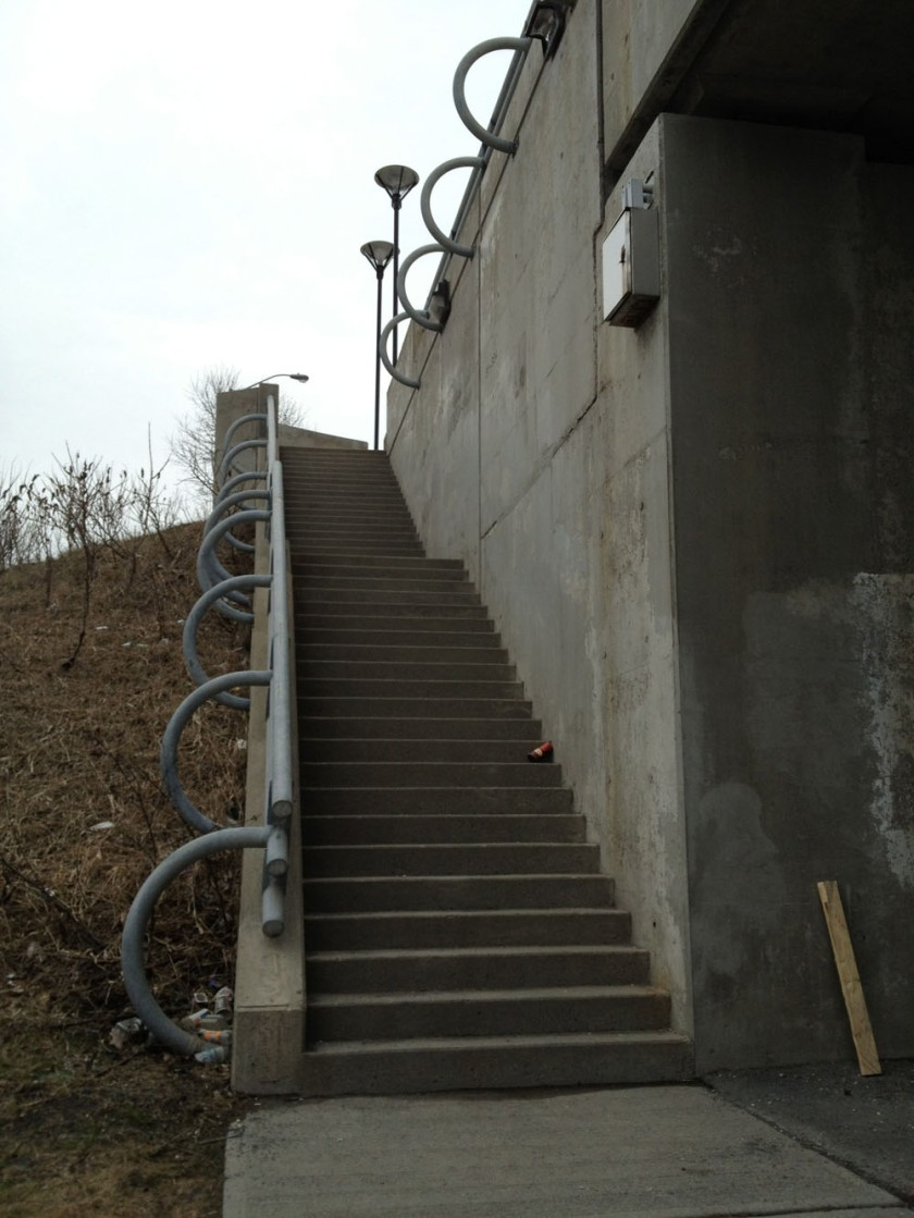 Bronson Bridge stairs