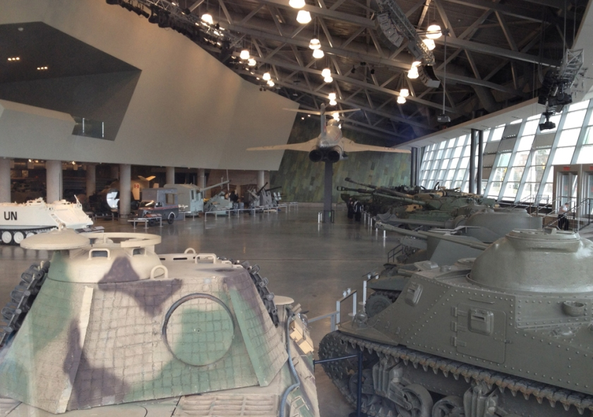 Looking in to the War Museum