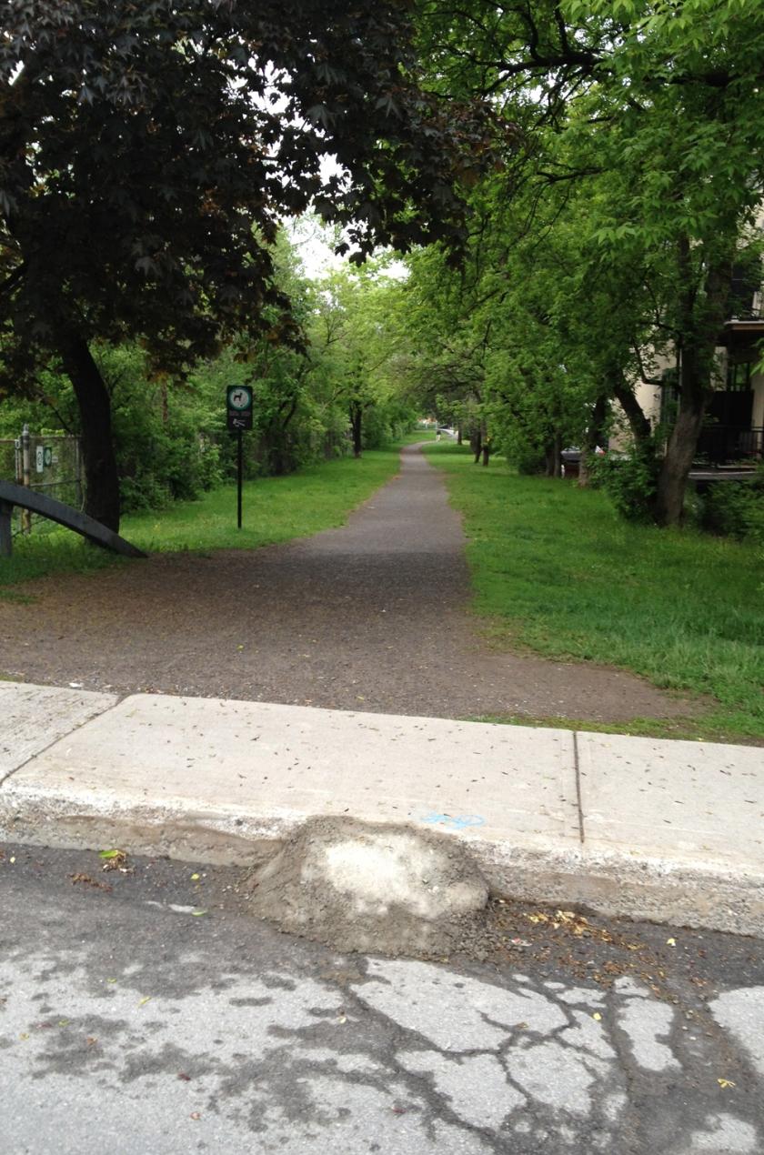 Concrete Ramp at Louisa