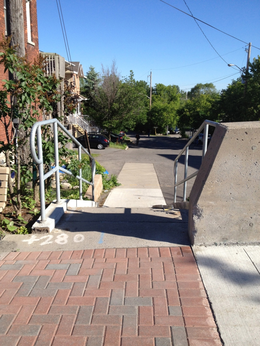 Mini stairs with ramp at Somerset and Takaki's