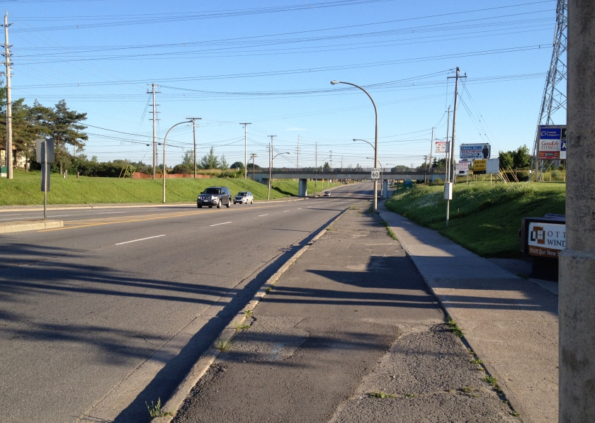 Bike lane wannabe along Merivale