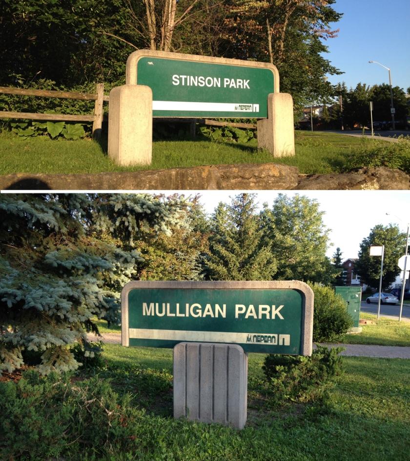 Barrhaven park signs