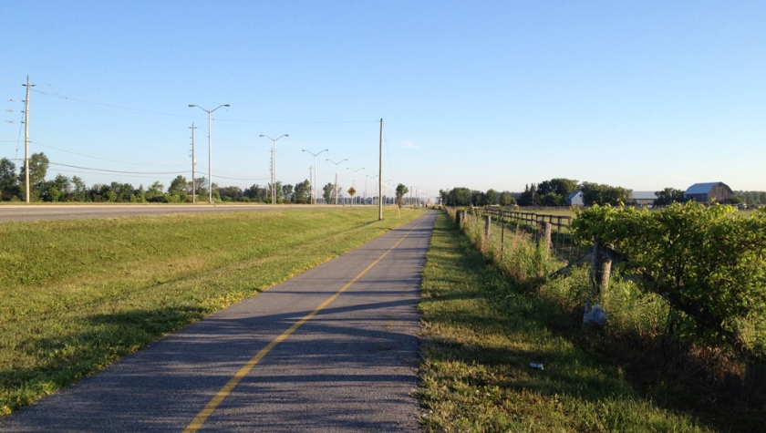 Pathway along Woodroffe