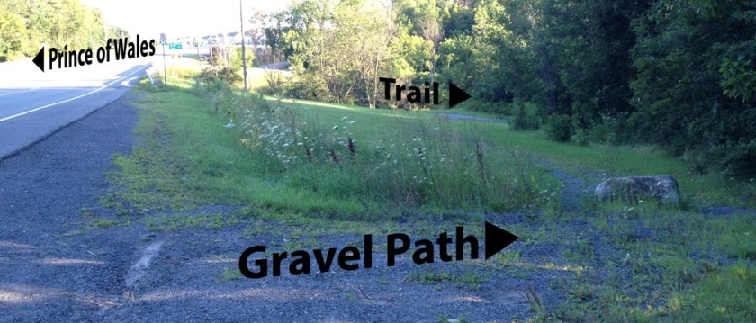 How to get to the trail on the other side of Jock River