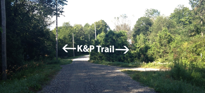 K&P Trail crossing