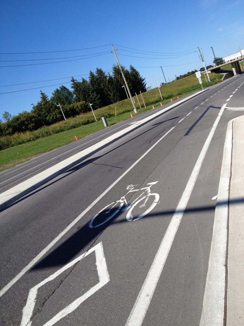 Uplands bike lane