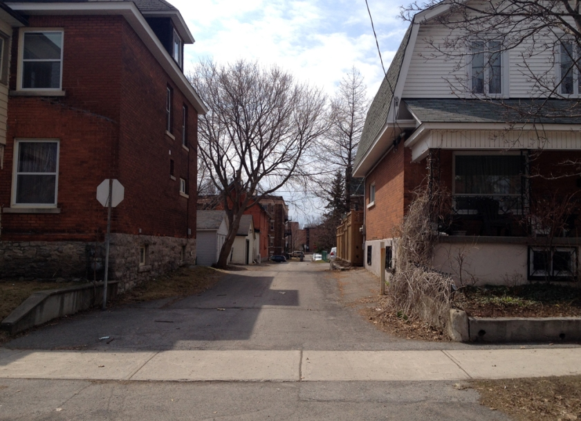Alleyway from Irving to Fairmount Ave