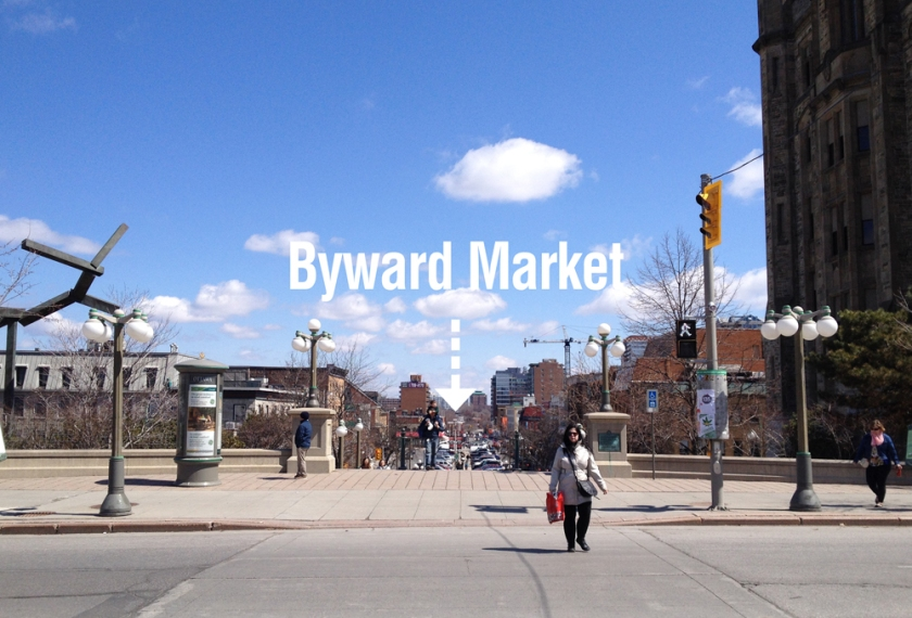 Steps down to the Byward Market