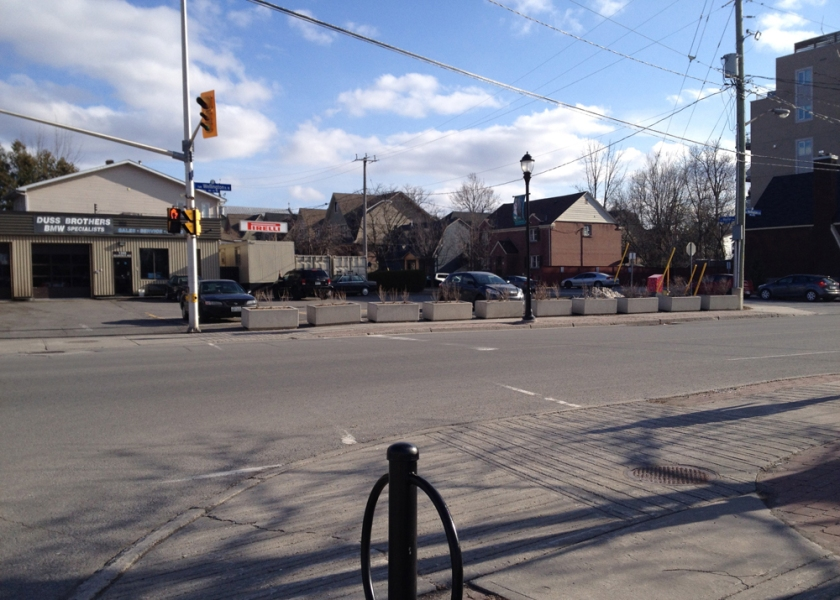 View across Wellington from lights at Western Ave to Mayfair Ave