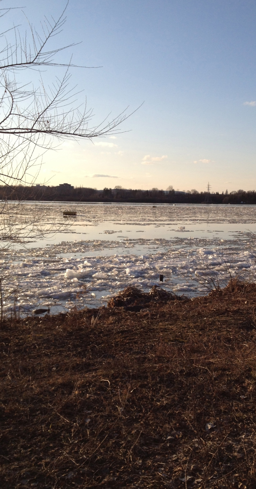 Ice break up on the Ottawa River