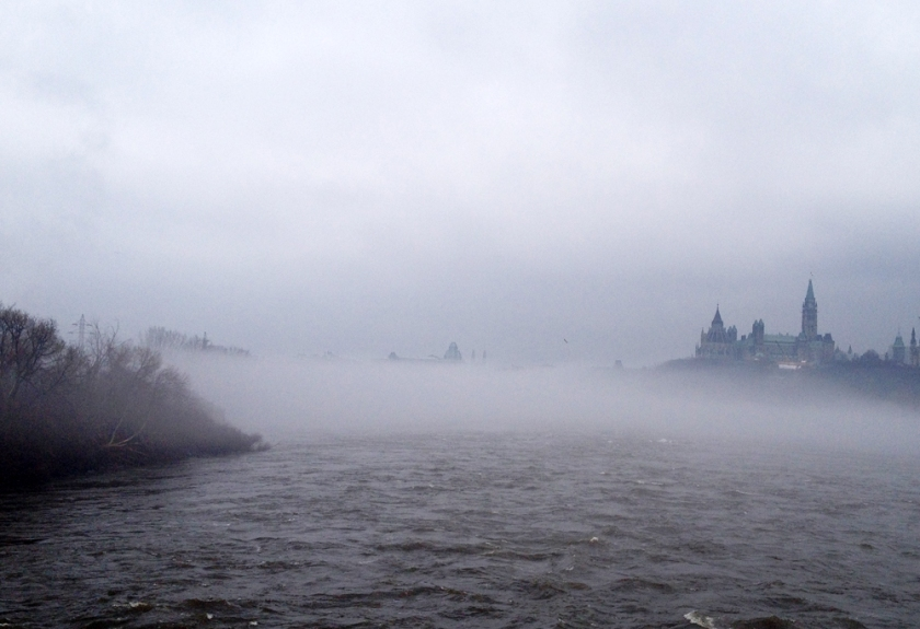 Mist rising over the mighty Ottawa River