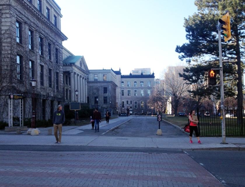 Cutting through campus