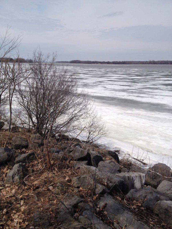 Ottawa River in  Spring