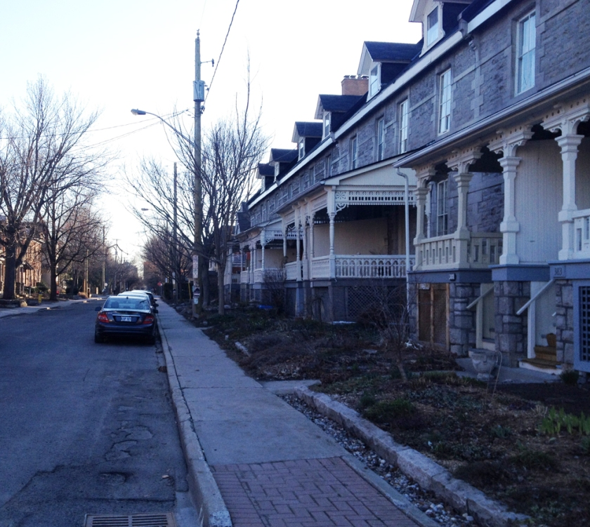 Old row houses in Sandy Hill