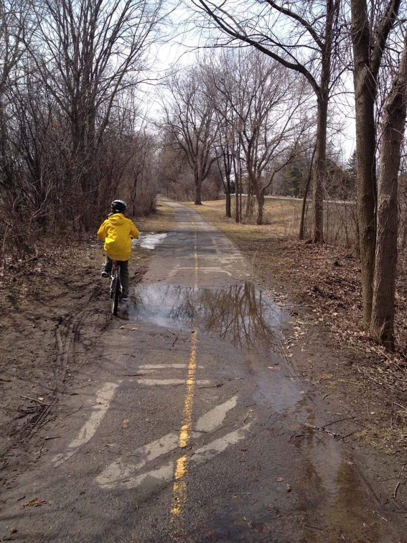 Puddle pedalling