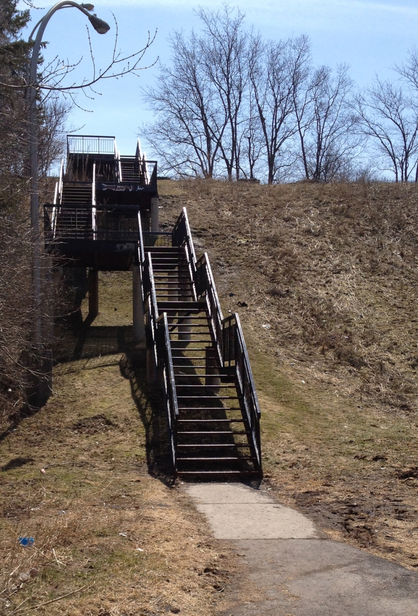 Stairs up to Caldwell