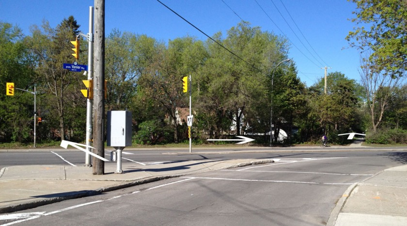 Crosswalk at Vanier Parkway