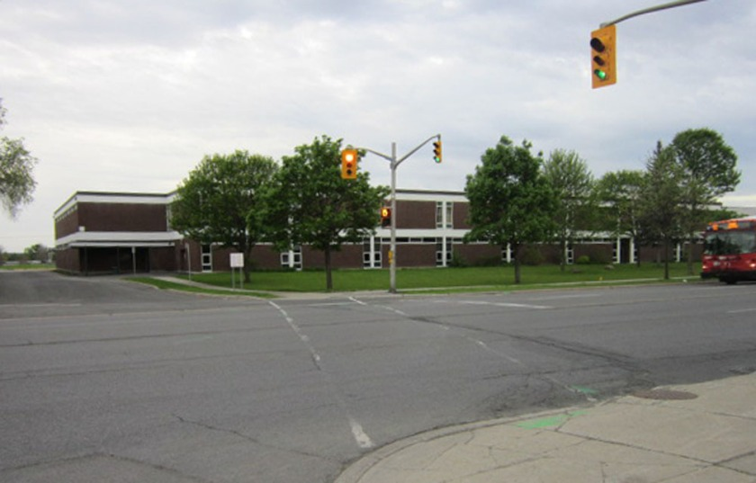 Gloucester High School seen from Appleford St and Ogilvie Road