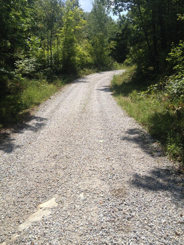 Loose gravel along Doran Road