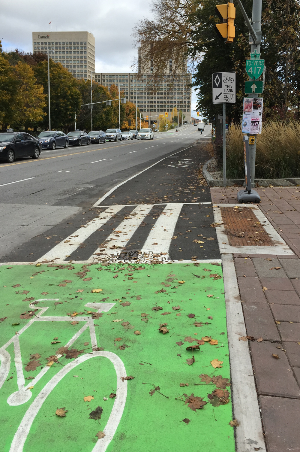 Laurier Bike Lane extension