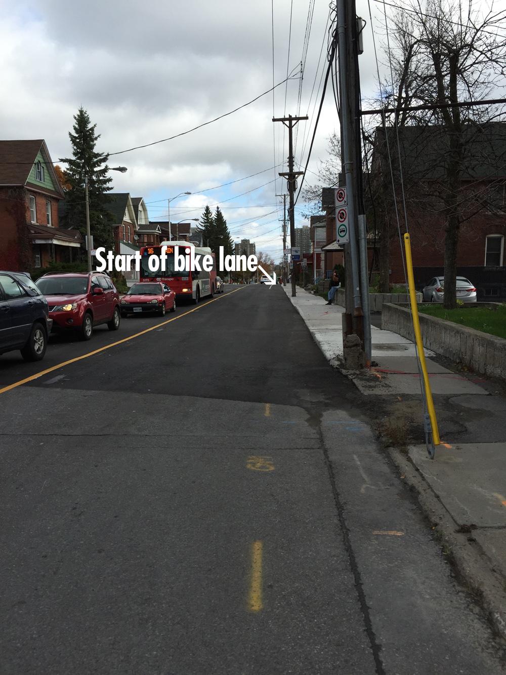 Lees Avenue bike lane