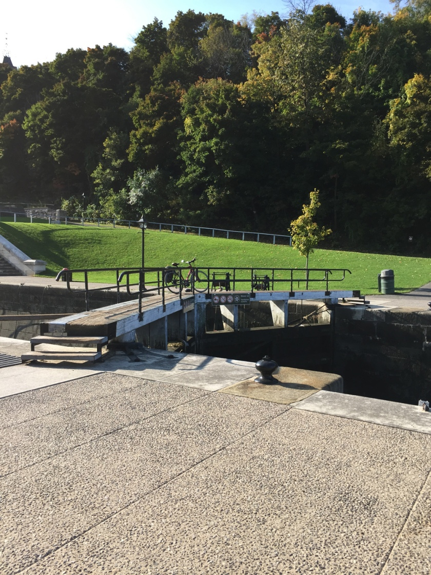 Up and over the Rideau Canal locks