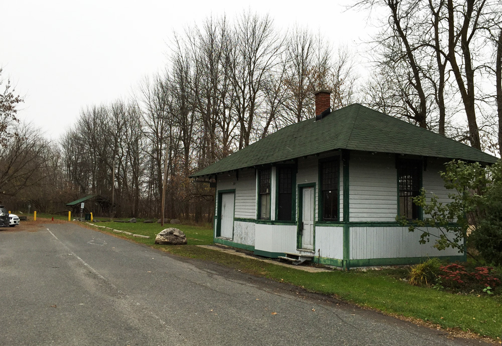 Old Embrun train station and the start of the trail