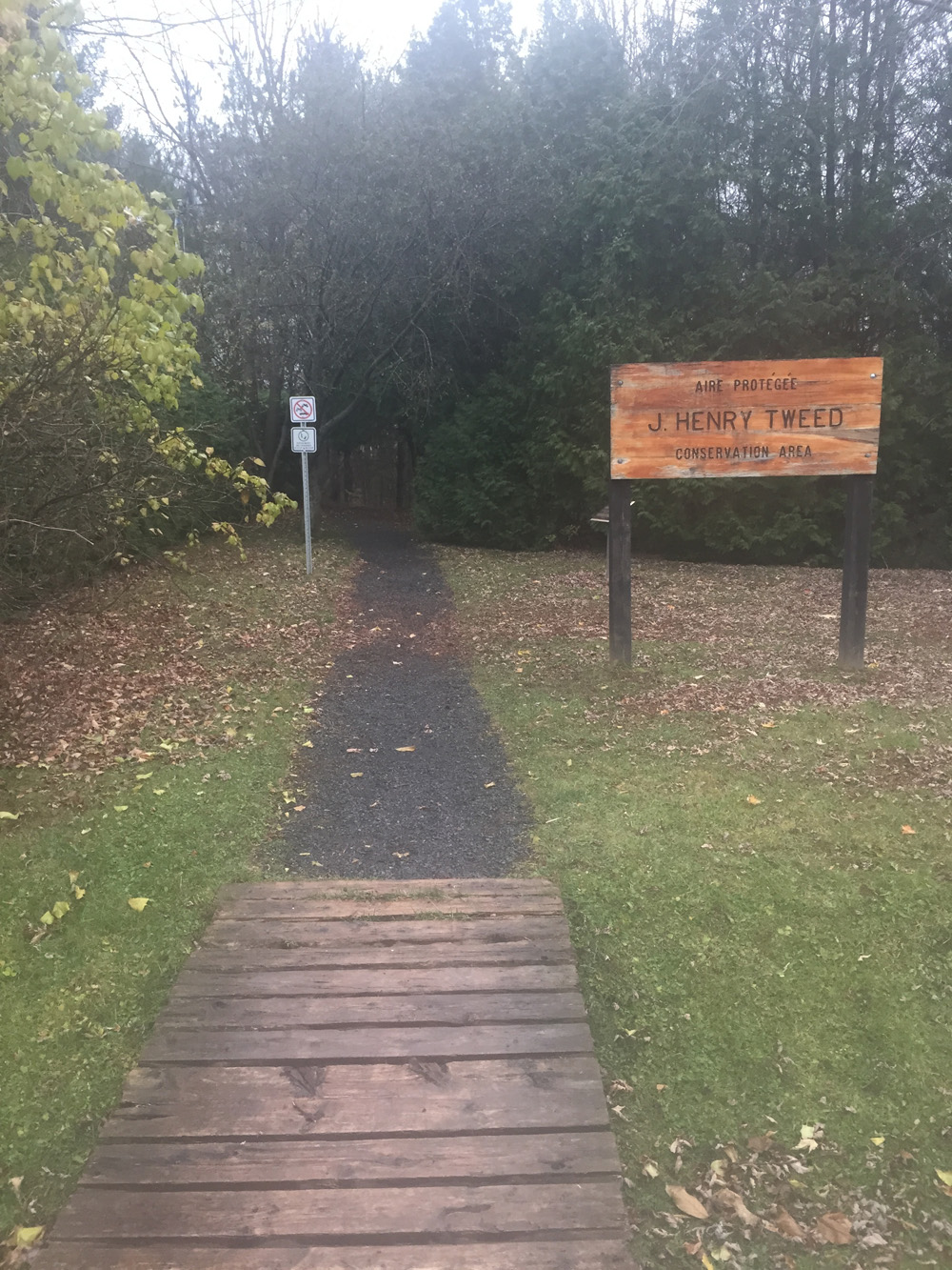 Start of the Sherwood Trail on the edge of Forced Road