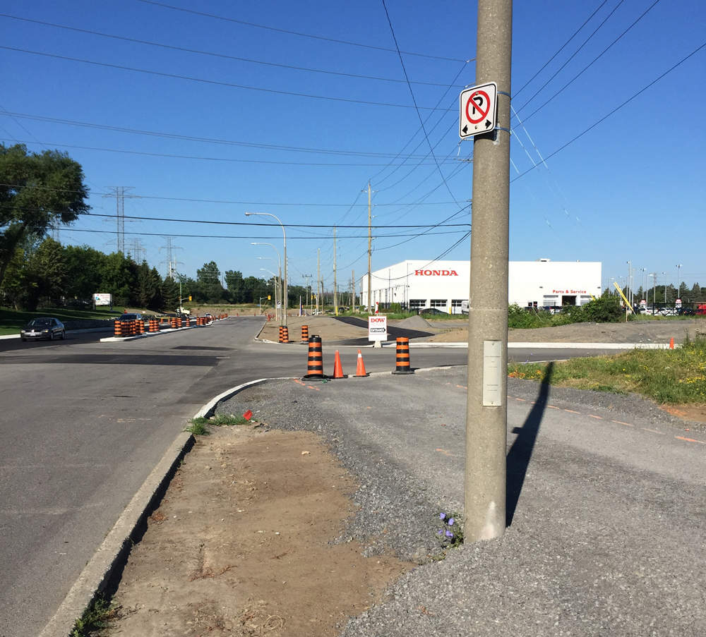 July 2015 update - Bike path going in along Colonnade