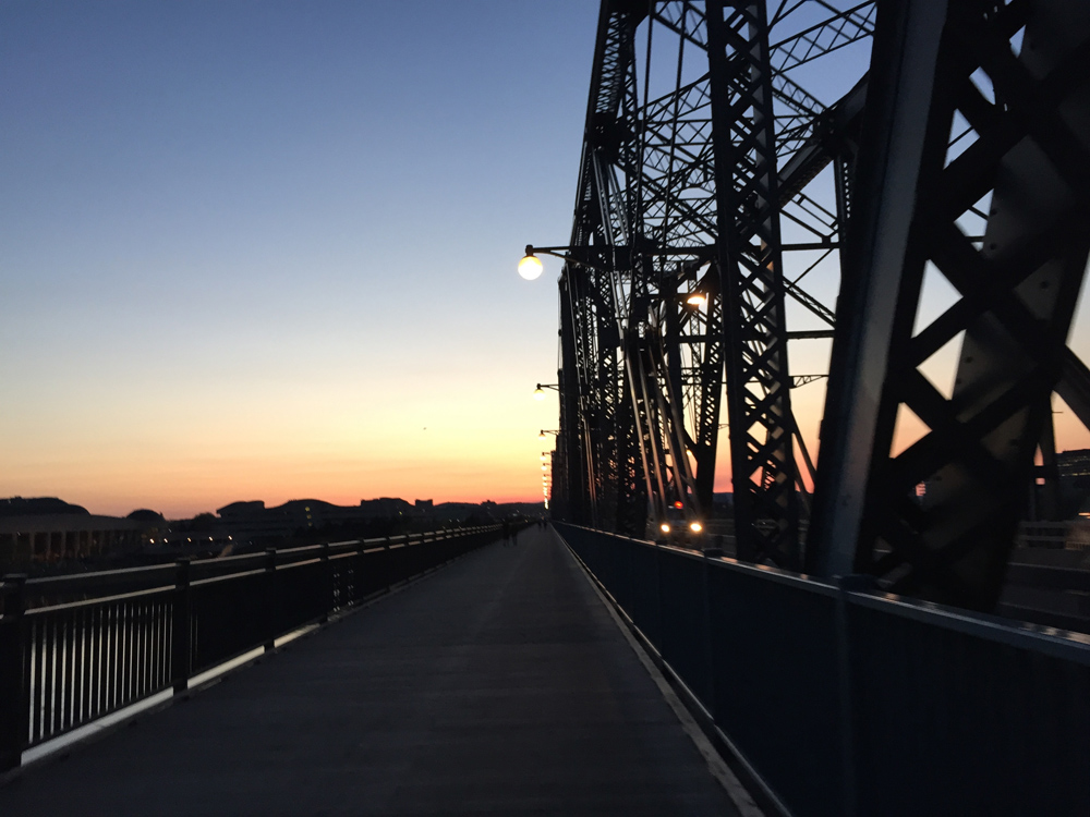 Crossing the Alexandra Bridge
