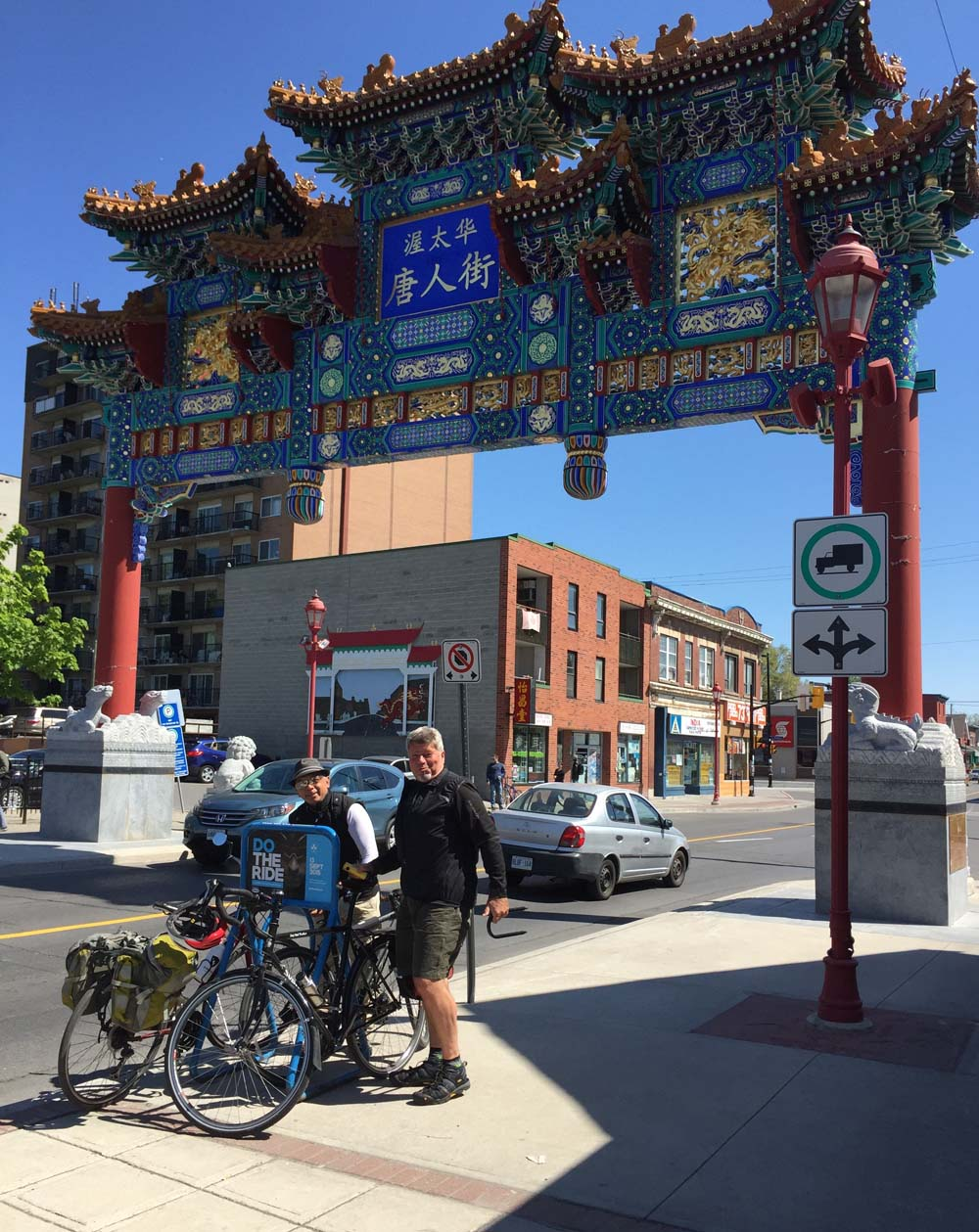 Starting off from the Chinatown Arch