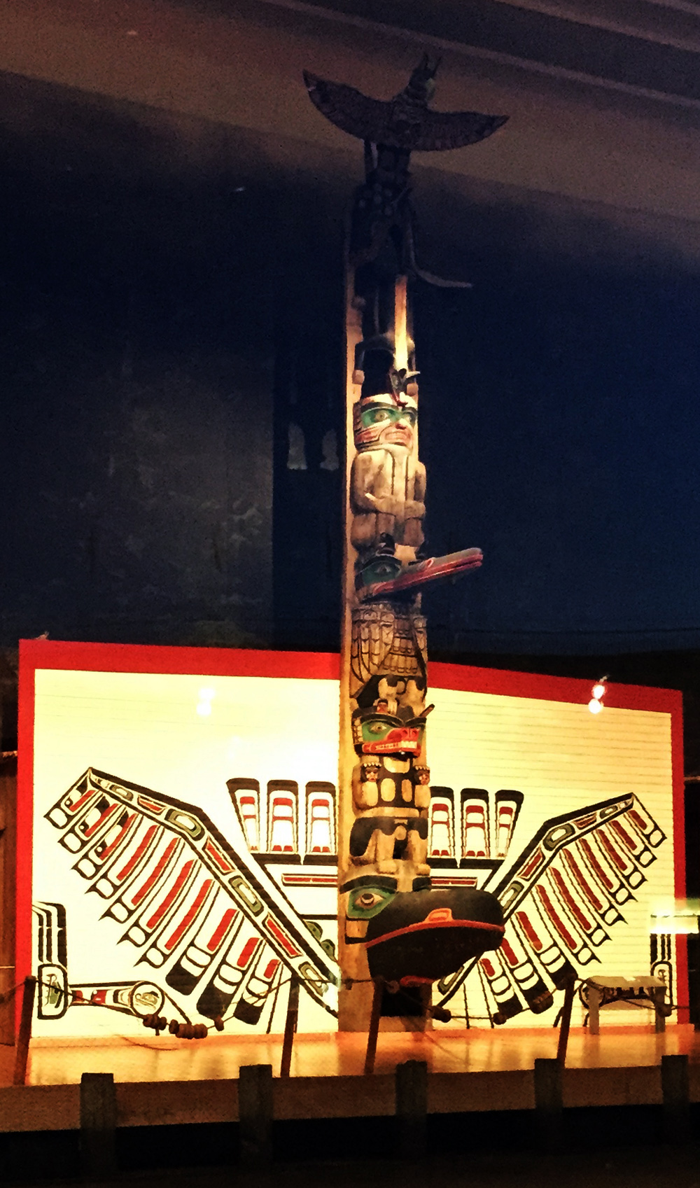 Totems within the Grand Hall
