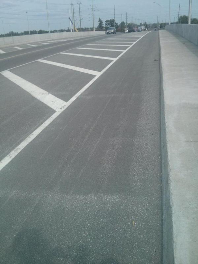 On the Cyrville bridge, a surprisingly nice segregated bike lane.