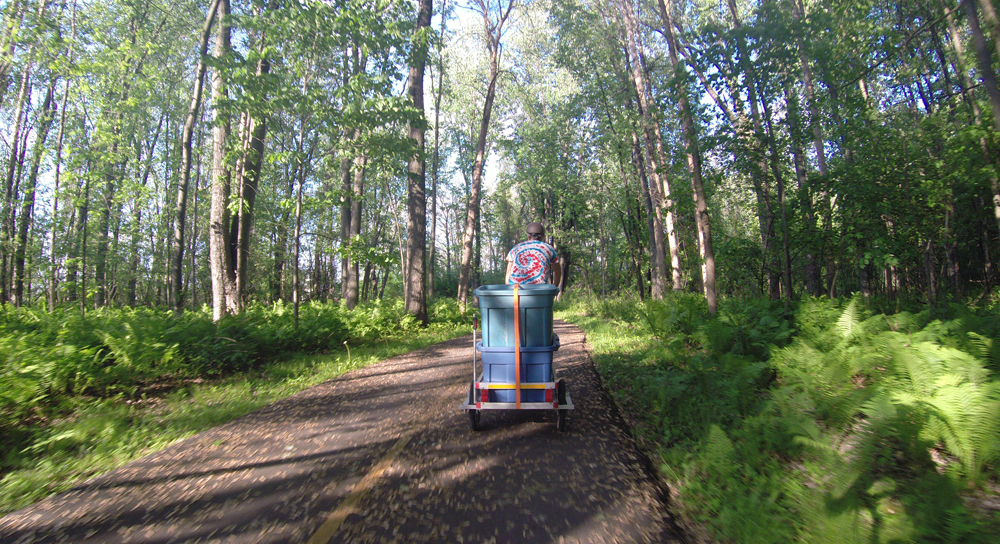 Riding along the Voyageurs Pathway