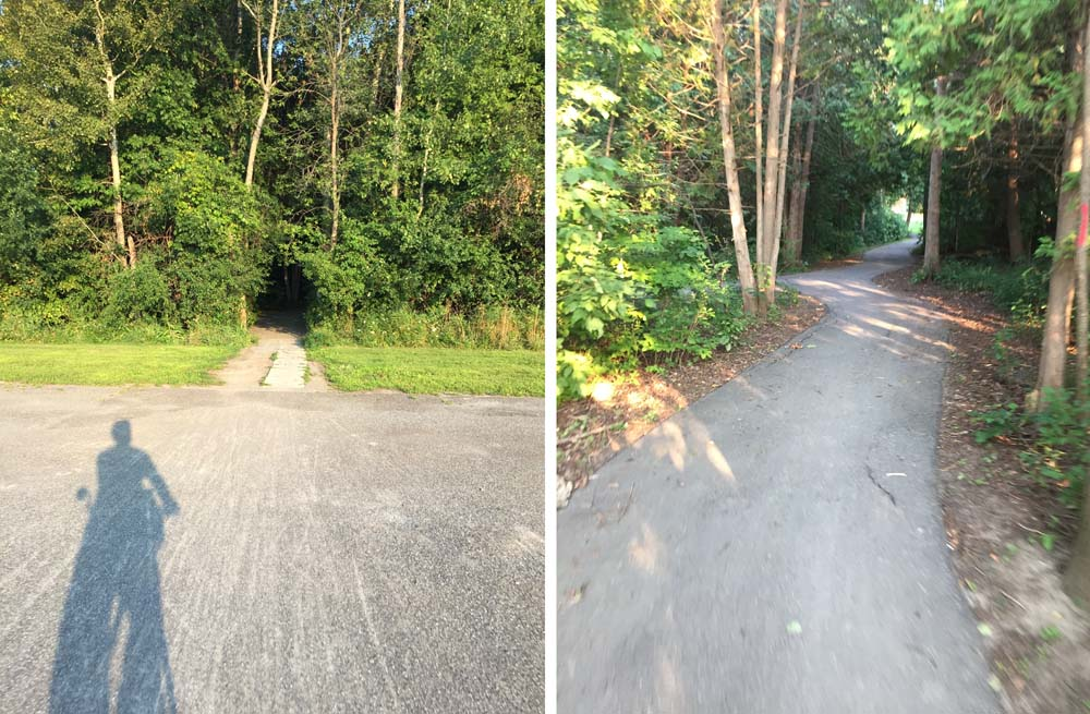 Short path from the church parking lot through to Otterson Drive