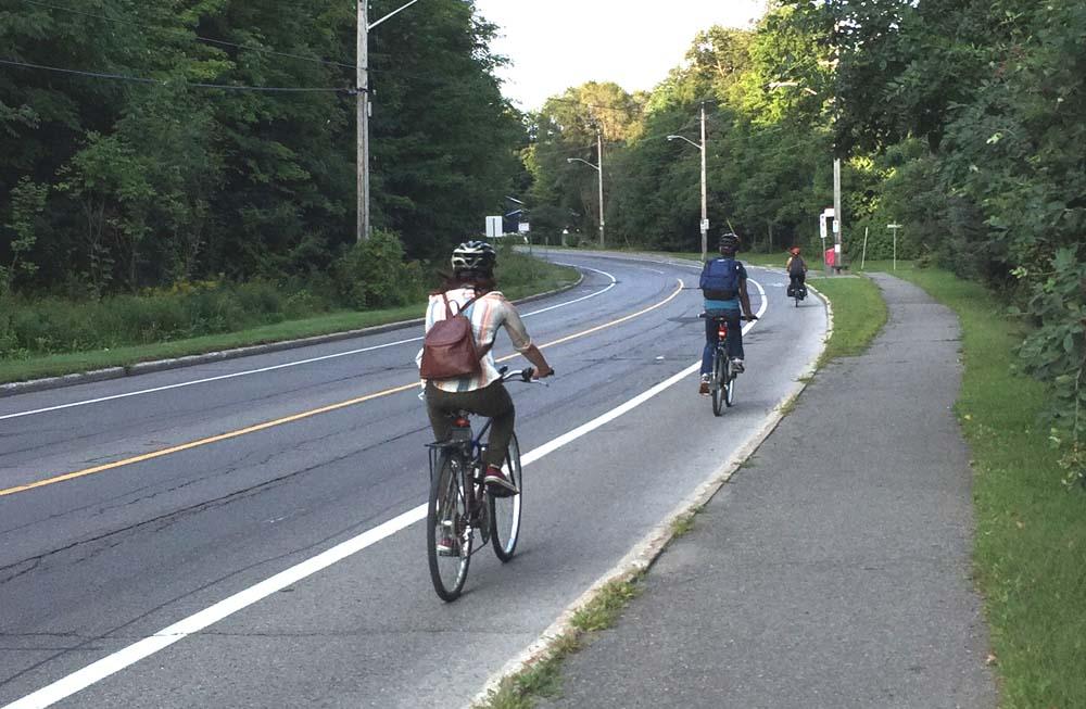 Bike lane along Hemlock