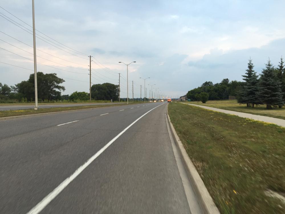 Bike lane along Terry Fox Drive