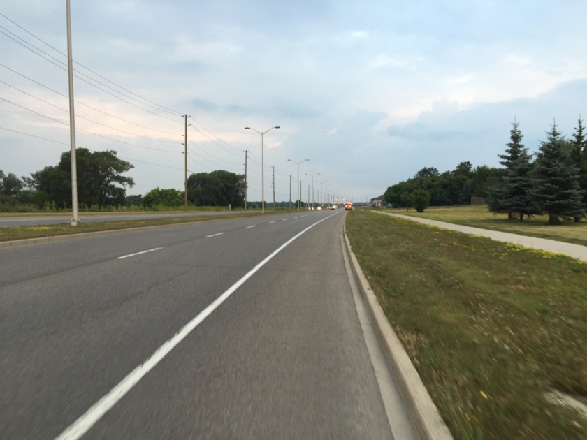 Bike lane along Terry Fox Drive