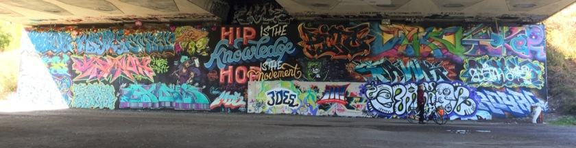 Legal wall under Bronson Ave at the edge of the Rideau River