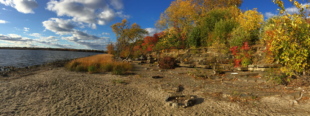Eastern tip of Westboro Beach in the Fall