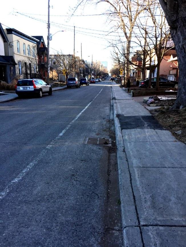 Percy bike lane